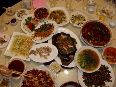 April 09 - my Chongqing 重庆 dinner