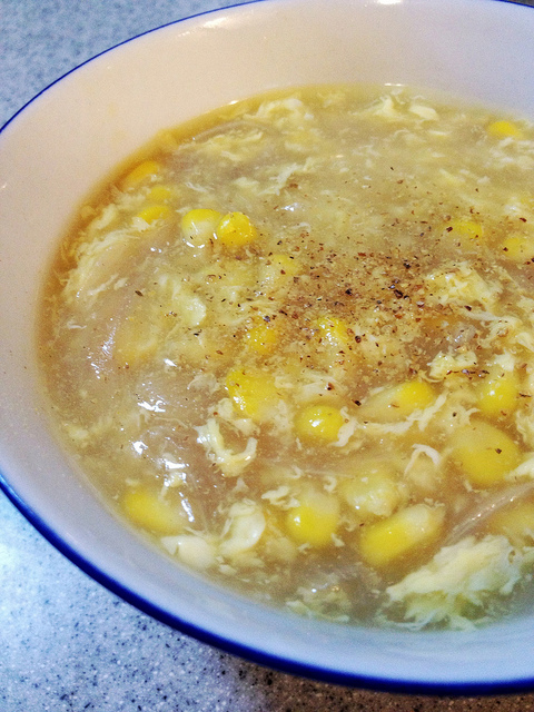 Chinese corn soup with eggs