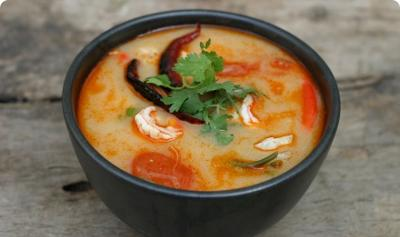 Tom Yum Goong Soup - at The Cooking Academy - Thai Cookery classes